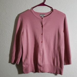 Medium pink cardigan cotton blend